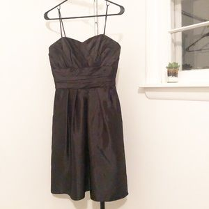 SEMI FORMAL SHORT BLACK DRESS